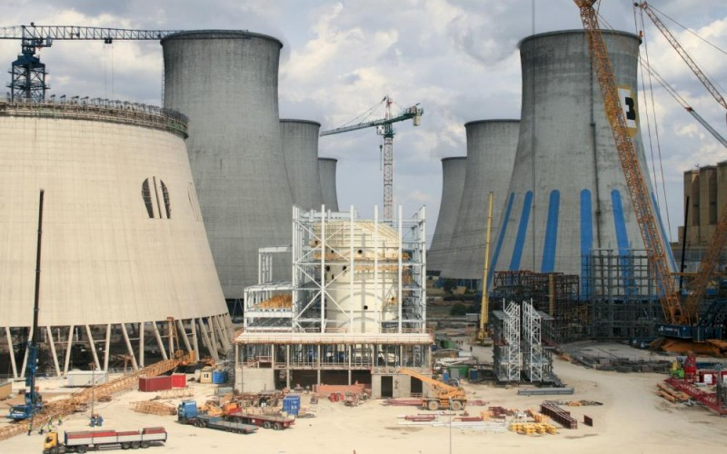 Construction of a 180 meters high cooling tower for a new 858MW block  in PGE Elektrownia Bełchatów (Bełchatów Power Station)